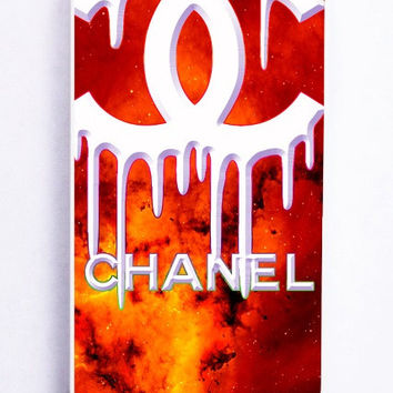 iPhone 5 Case - Rubber (TPU) Cover with Coco Chanel Logo on Galaxy Rubber Case Design