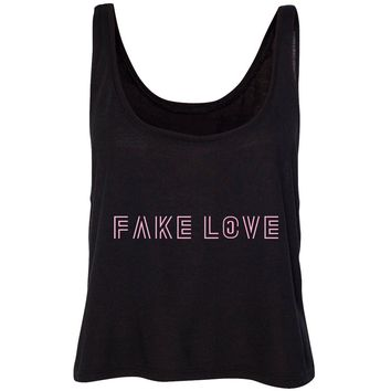 "BTS ""Fake Love"" Cropped Tank Top"