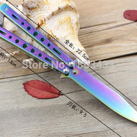 5Cr13Mov Stainless Steel knife Butterfly Training Knife butterfly knife balisong knife dull tool no edge