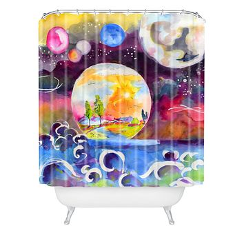 Ginette Fine Art Into The Future Shower Curtain