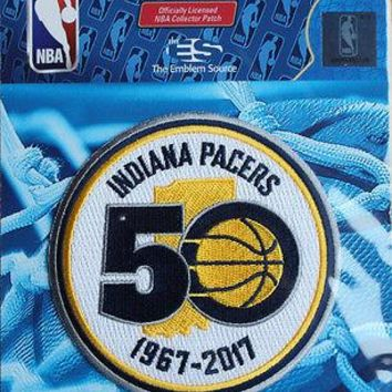 NBA Patch Indiana Pacers 50th Years 1967 - 2017 Sew or Iron On Official Patch