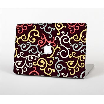 """The Pink, Yellow and Blue Vector Swirls Skin Set for the Apple MacBook Pro 13"""" with Retina Display"""