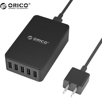ORICO CSE USB Charger Original 5V2.4A USB  4/5/6 Ports  Charger For Pad/Phone/iphone 7/6s/6- Black