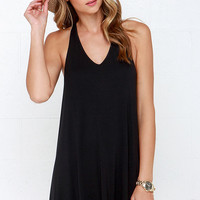 RVCA Won Shot Black Racerback Dress