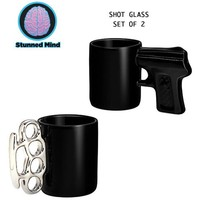 Just Funky Shot Glass- Set of 2-1.5 oz