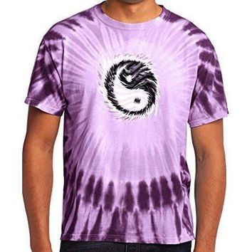 Yoga Clothing for You Mens Yin Yang Sun Tie Dye Tee Shirt