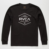 Rvca Pure Boys Thermal Black  In Sizes