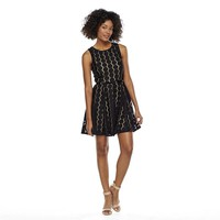 Lily Rose Honeycomb Lace Skater Dress - Juniors