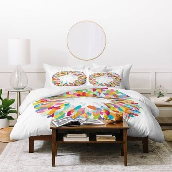 Sharon Turner Fizzy Feathers Duvet Cover