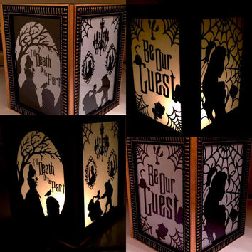 Haunted Mansion/Beauty and the Beast Mashup Lantern