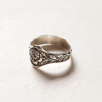 Engraved Rose Ring