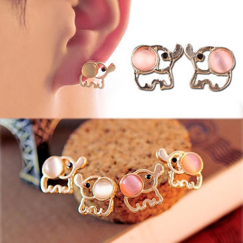 Korean Fashion Cute Elephant Earrings Womens Ear Studs Nice Gifts Accessories = 1705963652