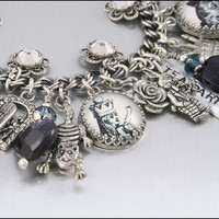 Charm Bracelet Alice in Wonderland Down the by BlackberryDesigns