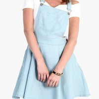 OVERALL DRESS - LIGHT DENIM