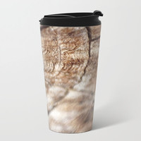 Wood Look Travel Mug Metal - Coffee Travel Mug -  Wood Photo - Hot or Cold Travel Mug - 15oz Mug - Stainless Steel - Made to Order