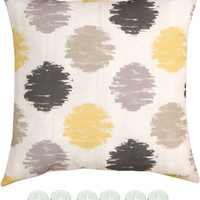 """Manual Woodworkers SLSSN10 Sunshine X Climaweave Indoor Outdoor 18""""x18"""" Pillow with 6-Pack Tea Candles"""