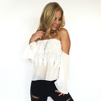 Lost In You Crochet Top In White