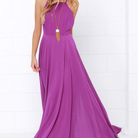 Mythical Kind of Love Purple Maxi Dress