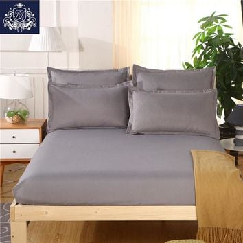 24 colors Solid Color Fitted Sheet with Elastic Queen/King Size