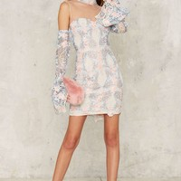 Asilio French Quarter Cold Shoulder Mini Dress