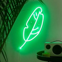 The Oliver Gal Artist Co. Leaf LED Neon Sign | Urban Outfitters