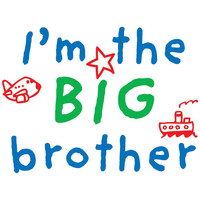 I'm The Big Brother, Iron On Transfer