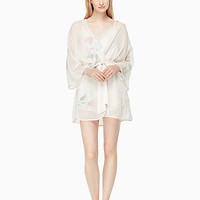 dot jacquard robe