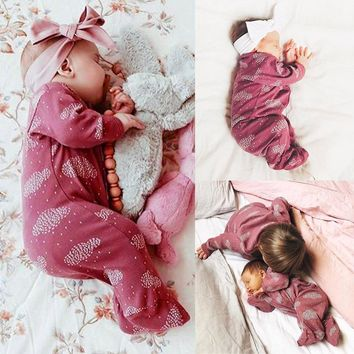 Newborn Baby Girl Striped Romper Cute Infant Jumpsuit Outfits Cartoon Clouds Print Baby Boy Clothes Autumn Striped Long Sleeve