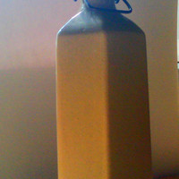 Vintage Stoneware Water Bottle Beige