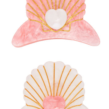 Delphine Set Of Two Hair Clips by Margherita | Moda Operandi