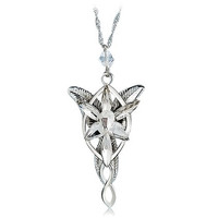 Lord of The Rings Evenstar Pendent Necklace (Silver)