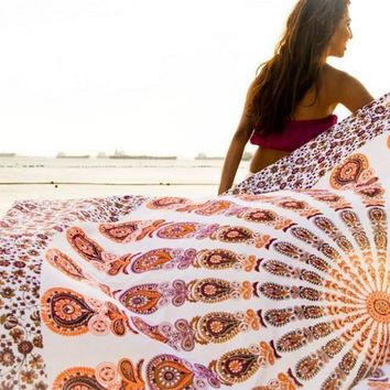 Large Beach Towel Decorative Wall Hanging Picnic Beach Sheet Coverlet Bohemian Mandala Wall Tapestry 11740 210cm*148cm