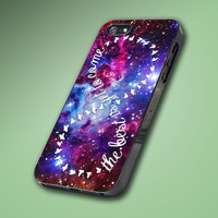 Infinity Quote At Purple Galaxy Nebula - Hard Case Made From Plastic or Rubber - For iPhone 4/4s, 5, 5c, 5s, iPod 4, 5, Samsung S3, S4