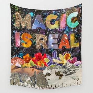 Magic Is Real Wall Tapestry by Jenndalyn