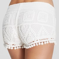 Surf Gypsy Pom Pom Cover Up Shorts
