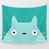 My Neighbor III | Konnichiwa Wall Tapestry by Miss L In Art