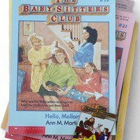 The Baby-Sitters Club Vintage 1980's Book + Pin Set