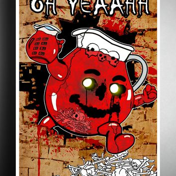 Creepy Kool aid man, it was always blood, creepy kids art