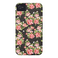 Elegant vintage floral victorian pink roses tough iphone 4 cases from Zazzle.com