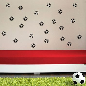 2017 Decoration Art Mural Decal Sticker Decor Football Player Kids Personalized Bedroom Wall Stickers Home Decorating