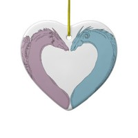 Heart Dragon Ornament (both sides)
