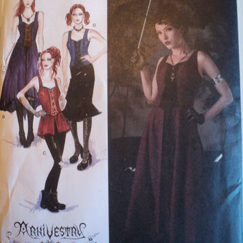 simplicity costume gothic 2757 new sewing pattern 14 to 22