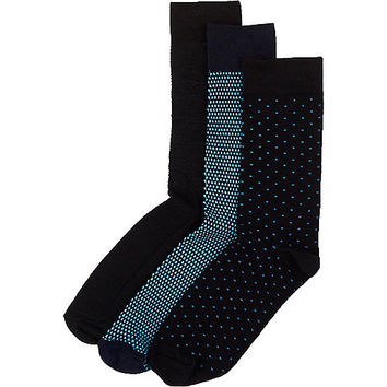 River Island MensMixed textured socks pack