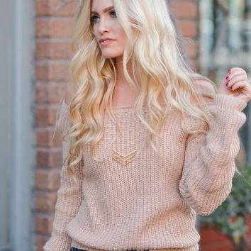 Marla Blush Off the Shoulder Sweater