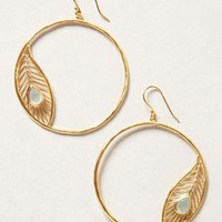 Golden Peacock Hoops by Satya Gold One Size Earrings