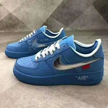 NIKE AIR FORCE 1 x OFF-WHITE Joint low-cut versatile fashion flat bottom shoes