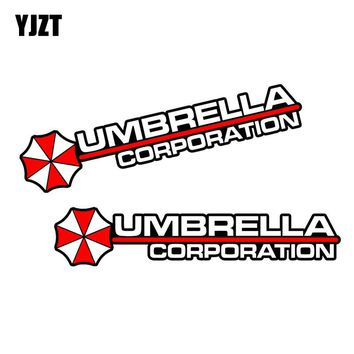 YJZT 13x2.7CM 2X UMBRELLA Hive Die Cut Resident Evil Retro-reflective Decal Fashion JDM Car Sticker C1-8001