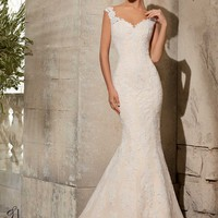 Blu by Mori Lee 5316 Fit and Flare Wedding Dress