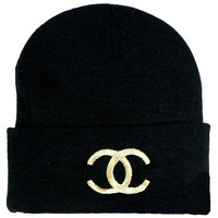 Chanel Beanie Hat . Embroided
