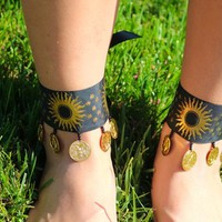 Solar Ankle Cuff from Cosmic Kinship